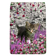 Emma In Flowers I, Little Gray Tabby Kitty Cat Flap Covers (s)  by DianeClancy