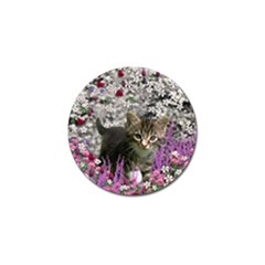 Emma In Flowers I, Little Gray Tabby Kitty Cat Golf Ball Marker (10 Pack) by DianeClancy