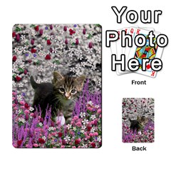 Emma In Flowers I, Little Gray Tabby Kitty Cat Multi Purpose Cards (rectangle)  by DianeClancy