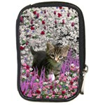Emma In Flowers I, Little Gray Tabby Kitty Cat Compact Camera Cases Front
