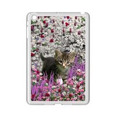 Emma In Flowers I, Little Gray Tabby Kitty Cat Ipad Mini 2 Enamel Coated Cases by DianeClancy