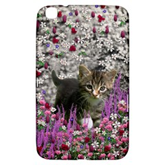 Emma In Flowers I, Little Gray Tabby Kitty Cat Samsung Galaxy Tab 3 (8 ) T3100 Hardshell Case  by DianeClancy