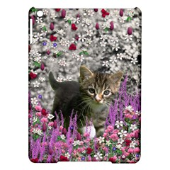 Emma In Flowers I, Little Gray Tabby Kitty Cat Ipad Air Hardshell Cases by DianeClancy