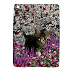 Emma In Flowers I, Little Gray Tabby Kitty Cat Ipad Air 2 Hardshell Cases by DianeClancy