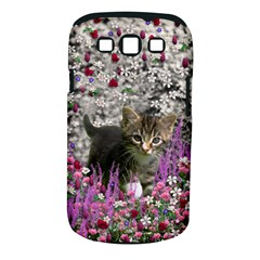 Emma In Flowers I, Little Gray Tabby Kitty Cat Samsung Galaxy S Iii Classic Hardshell Case (pc+silicone) by DianeClancy