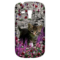 Emma In Flowers I, Little Gray Tabby Kitty Cat Samsung Galaxy S3 Mini I8190 Hardshell Case by DianeClancy