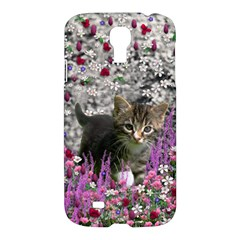 Emma In Flowers I, Little Gray Tabby Kitty Cat Samsung Galaxy S4 I9500/i9505 Hardshell Case by DianeClancy