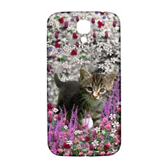 Emma In Flowers I, Little Gray Tabby Kitty Cat Samsung Galaxy S4 I9500/i9505  Hardshell Back Case by DianeClancy