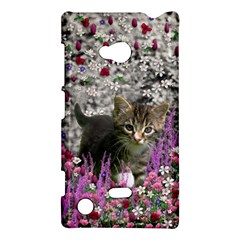 Emma In Flowers I, Little Gray Tabby Kitty Cat Nokia Lumia 720 by DianeClancy