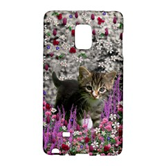 Emma In Flowers I, Little Gray Tabby Kitty Cat Galaxy Note Edge by DianeClancy