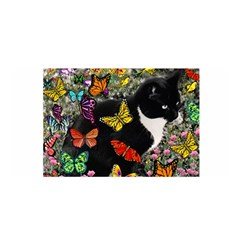 Freckles In Butterflies I, Black White Tux Cat Satin Wrap by DianeClancy