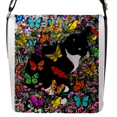 Freckles In Butterflies I, Black White Tux Cat Flap Covers (s)  by DianeClancy