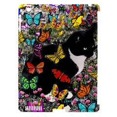 Freckles In Butterflies I, Black White Tux Cat Apple Ipad 3/4 Hardshell Case (compatible With Smart Cover) by DianeClancy