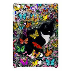 Freckles In Butterflies I, Black White Tux Cat Apple Ipad Mini Hardshell Case by DianeClancy