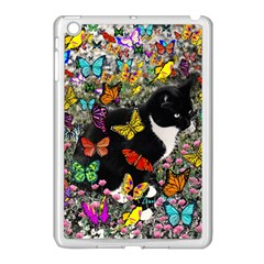 Freckles In Butterflies I, Black White Tux Cat Apple Ipad Mini Case (white) by DianeClancy