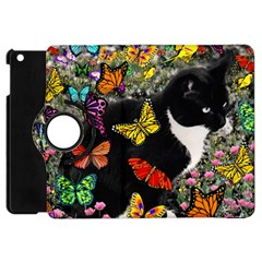 Freckles In Butterflies I, Black White Tux Cat Apple Ipad Mini Flip 360 Case by DianeClancy