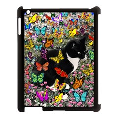 Freckles In Butterflies I, Black White Tux Cat Apple Ipad 3/4 Case (black) by DianeClancy