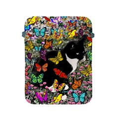 Freckles In Butterflies I, Black White Tux Cat Apple Ipad 2/3/4 Protective Soft Cases by DianeClancy