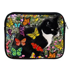 Freckles In Butterflies I, Black White Tux Cat Apple Ipad 2/3/4 Zipper Cases by DianeClancy
