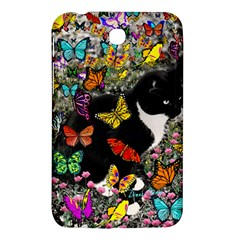 Freckles In Butterflies I, Black White Tux Cat Samsung Galaxy Tab 3 (7 ) P3200 Hardshell Case  by DianeClancy