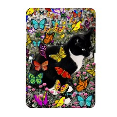 Freckles In Butterflies I, Black White Tux Cat Samsung Galaxy Tab 2 (10 1 ) P5100 Hardshell Case  by DianeClancy