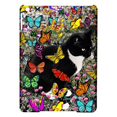 Freckles In Butterflies I, Black White Tux Cat Ipad Air Hardshell Cases by DianeClancy