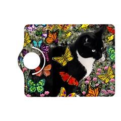 Freckles In Butterflies I, Black White Tux Cat Kindle Fire HD (2013) Flip 360 Case by DianeClancy