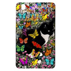 Freckles In Butterflies I, Black White Tux Cat Samsung Galaxy Tab Pro 8 4 Hardshell Case by DianeClancy