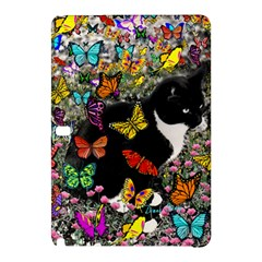 Freckles In Butterflies I, Black White Tux Cat Samsung Galaxy Tab Pro 12 2 Hardshell Case by DianeClancy