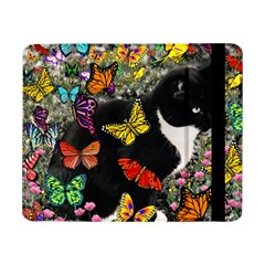 Freckles In Butterflies I, Black White Tux Cat Samsung Galaxy Tab Pro 8 4  Flip Case by DianeClancy