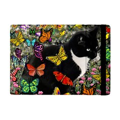 Freckles In Butterflies I, Black White Tux Cat Ipad Mini 2 Flip Cases by DianeClancy