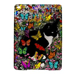 Freckles In Butterflies I, Black White Tux Cat Ipad Air 2 Hardshell Cases by DianeClancy