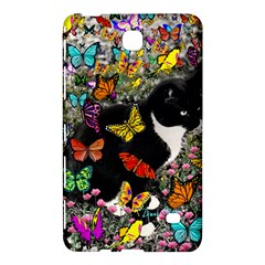 Freckles In Butterflies I, Black White Tux Cat Samsung Galaxy Tab 4 (8 ) Hardshell Case  by DianeClancy