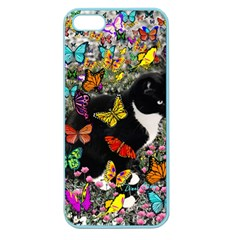 Freckles In Butterflies I, Black White Tux Cat Apple Seamless Iphone 5 Case (color) by DianeClancy