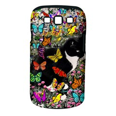 Freckles In Butterflies I, Black White Tux Cat Samsung Galaxy S Iii Classic Hardshell Case (pc+silicone) by DianeClancy