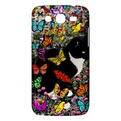 Freckles In Butterflies I, Black White Tux Cat Samsung Galaxy Mega 5 8 I9152 Hardshell Case  by DianeClancy