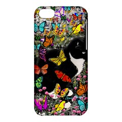 Freckles In Butterflies I, Black White Tux Cat Apple Iphone 5c Hardshell Case by DianeClancy