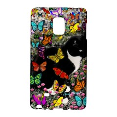 Freckles In Butterflies I, Black White Tux Cat Galaxy Note Edge by DianeClancy