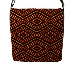 Fire N Flame Flap Messenger Bag (l)  by MRTACPANS