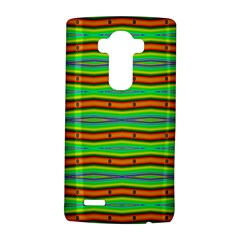 Bright Green Orange Lines Stripes LG G4 Hardshell Case by BrightVibesDesign