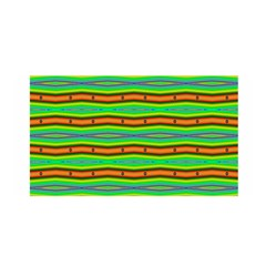 Bright Green Orange Lines Stripes Satin Wrap by BrightVibesDesign
