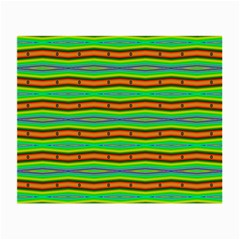 Bright Green Orange Lines Stripes Small Glasses Cloth by BrightVibesDesign
