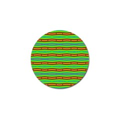 Bright Green Orange Lines Stripes Golf Ball Marker (10 Pack) by BrightVibesDesign