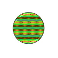 Bright Green Orange Lines Stripes Hat Clip Ball Marker (10 Pack) by BrightVibesDesign