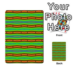 Bright Green Orange Lines Stripes Multi Purpose Cards (rectangle)  by BrightVibesDesign