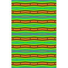 Bright Green Orange Lines Stripes 5 5  X 8 5  Notebooks by BrightVibesDesign