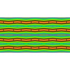 Bright Green Orange Lines Stripes You Are Invited 3d Greeting Card (8x4)  by BrightVibesDesign