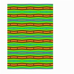 Bright Green Orange Lines Stripes Large Garden Flag (two Sides) by BrightVibesDesign
