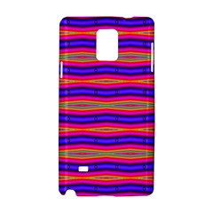 Bright Pink Purple Lines Stripes Samsung Galaxy Note 4 Hardshell Case by BrightVibesDesign