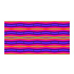 Bright Pink Purple Lines Stripes Satin Wrap by BrightVibesDesign